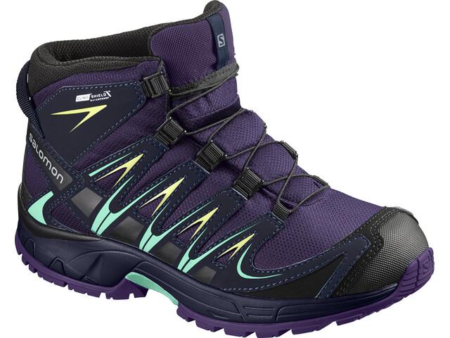 Salomon XA Pro 3D CS WP Mid Shoes Juniors Acai/Evening Blue/Biscay Green
